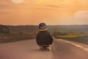 Skateboard Child Boy Sunset Pixabay