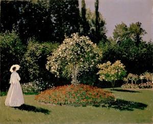 Monet Woman in the Garden Guard Your Heart